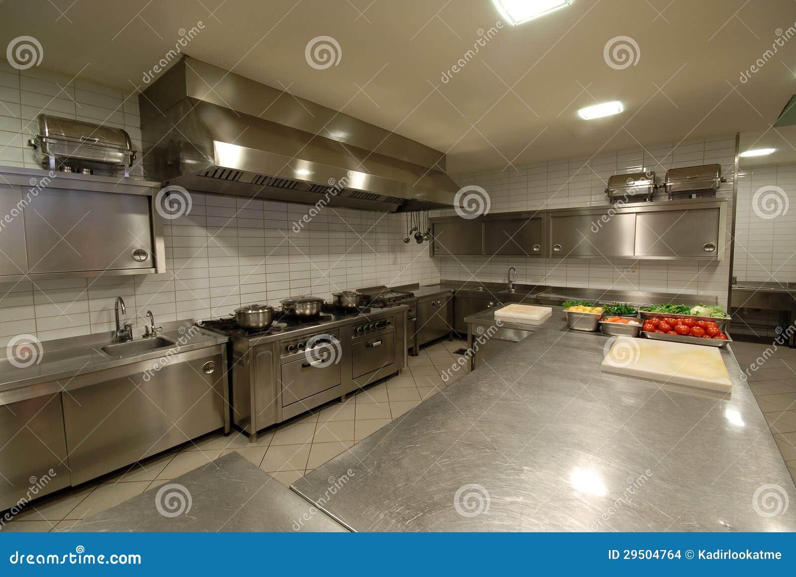 Moderne keuken in restaurant