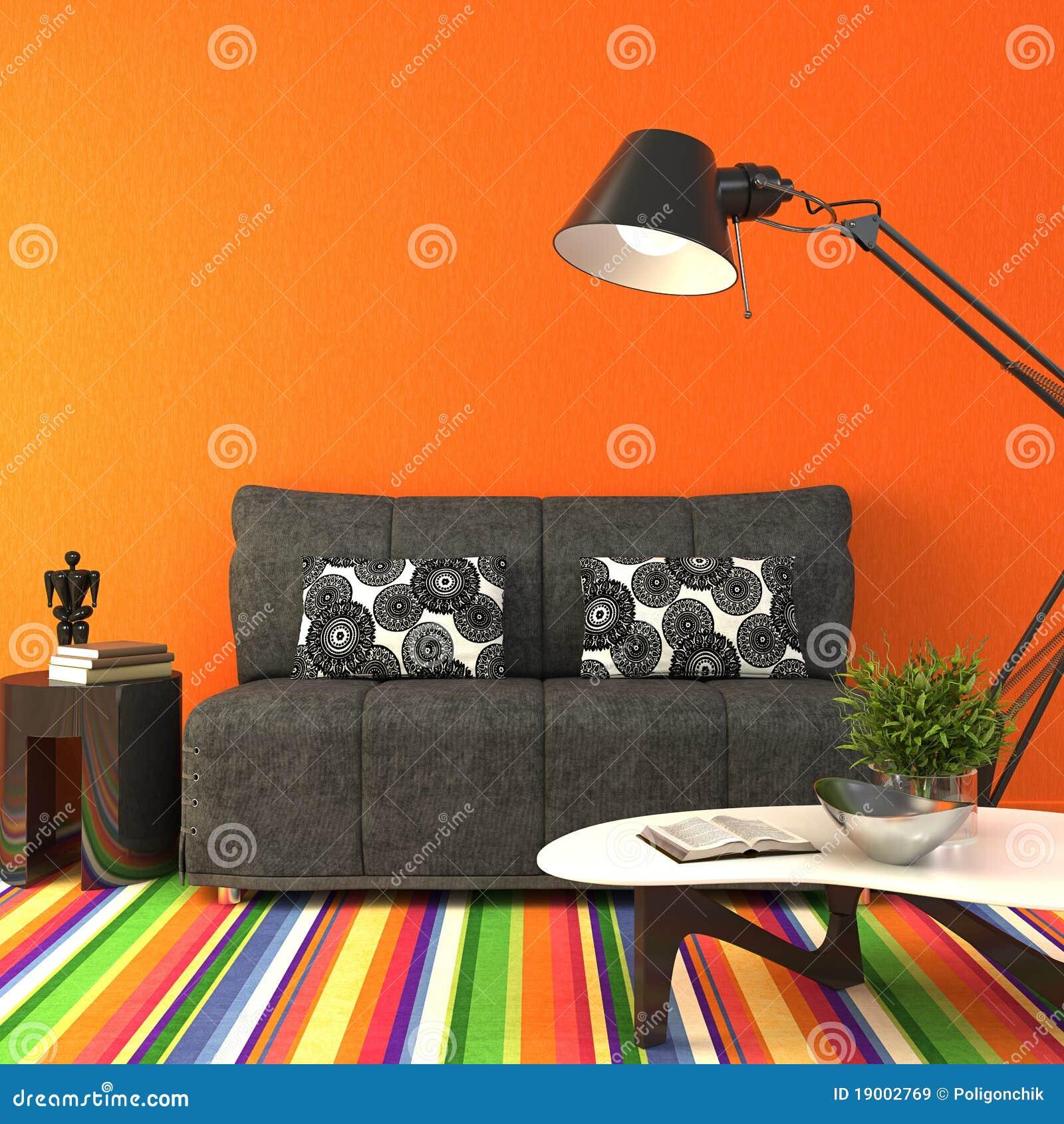 Kleurrijke Moderne Woonkamer Royalty-vrije Stock Afbeeldingen ...