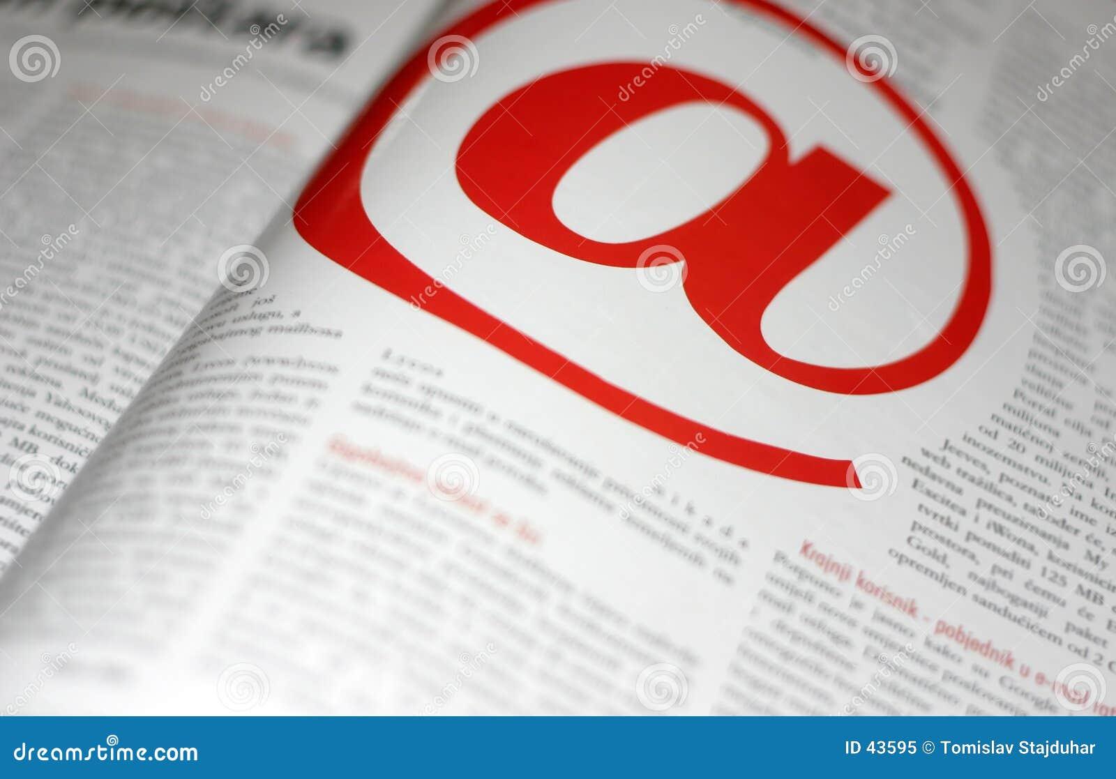 Download Moderne @ Kommunikation stockbild. Bild von send, pfosten - 43595
