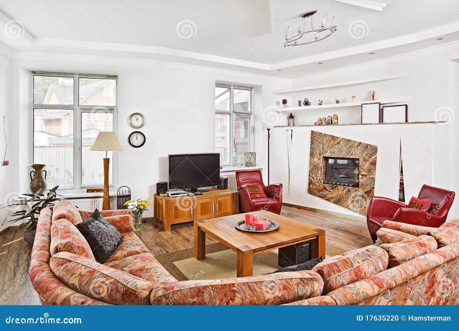 Moderne Kunst Deco Art-Saloninnenraum Stockfoto - Bild von ...
