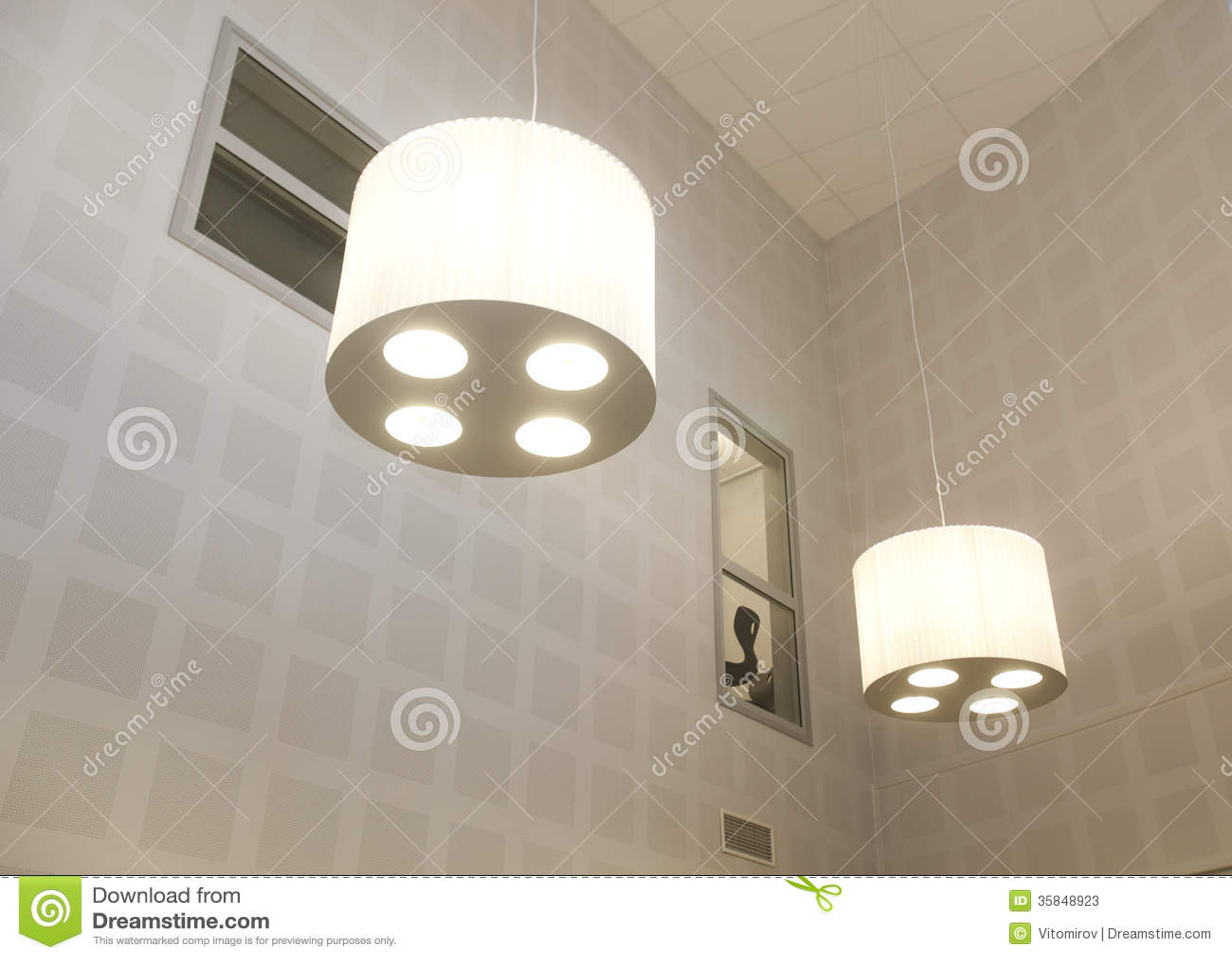 moderne lampen stockbild bild von ausr stung klassisch 35848923. Black Bedroom Furniture Sets. Home Design Ideas