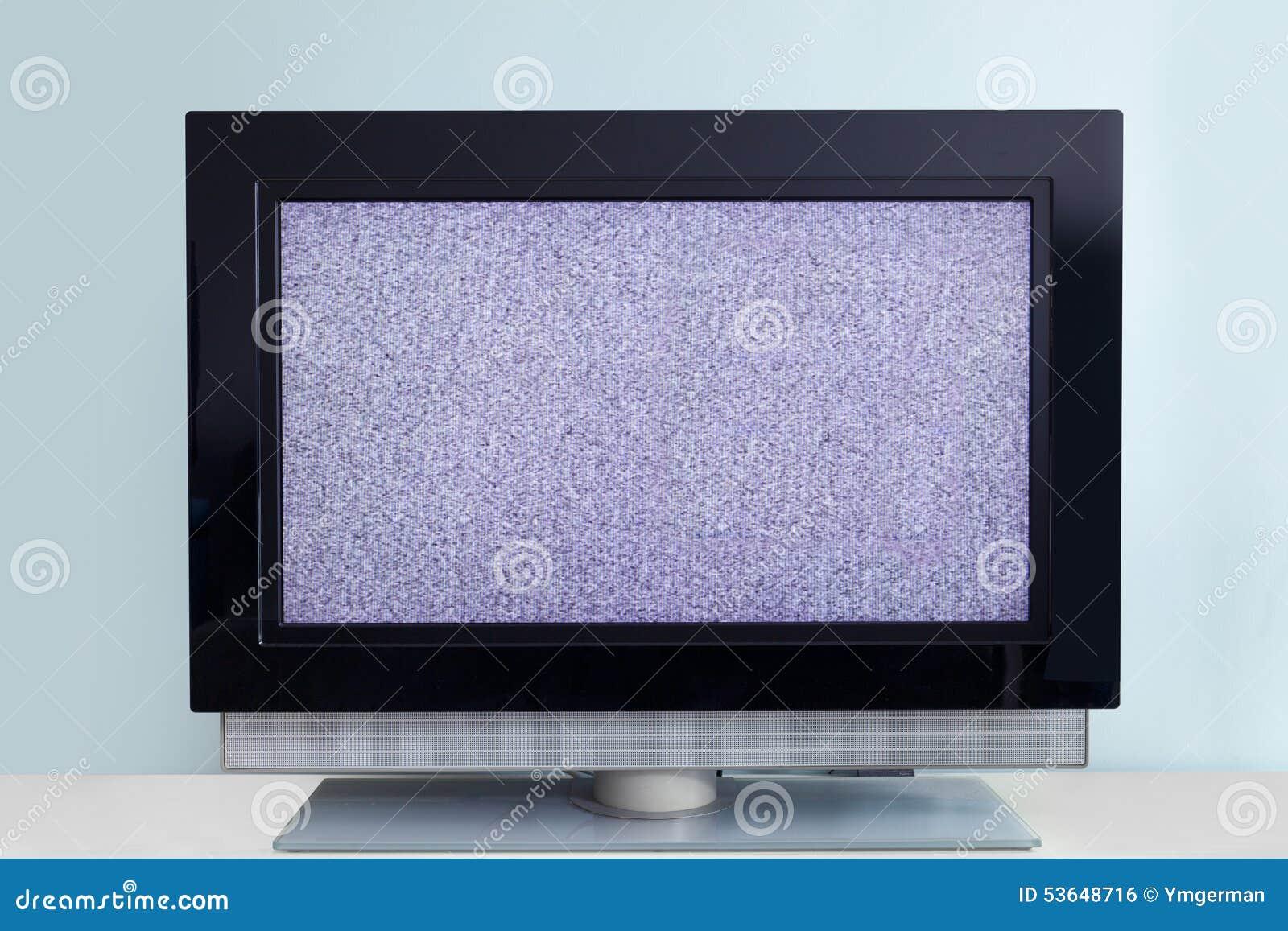 Moderne Lcd Tv Met Signaallawaai Stock Foto Afbeelding Bestaande  # Television Moderne