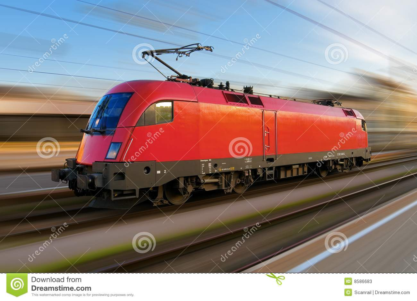 Moderne locomotif européen électrique