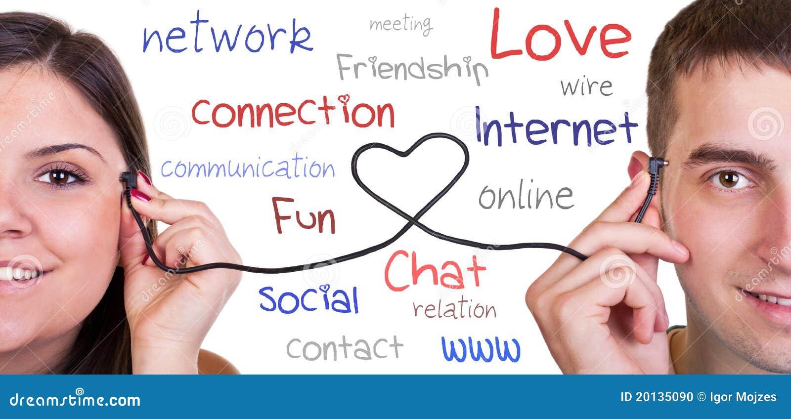 Moderne mededeling, online liefde