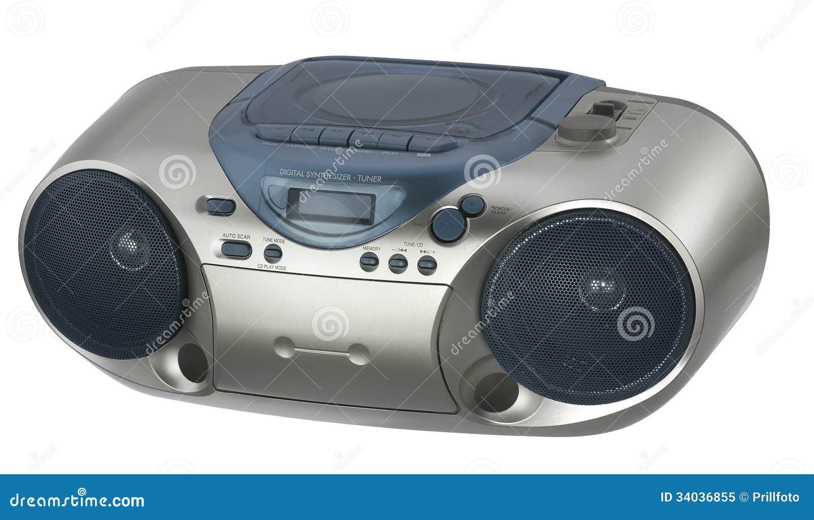 Moderne Metaal Gekleurde Radio Stock Afbeelding