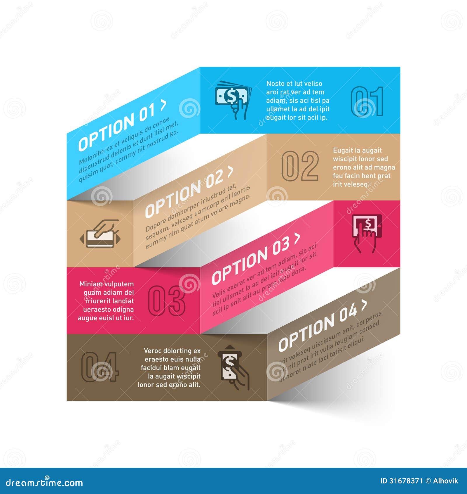 Moderne methode van het malplaatje van betalingsinfographics