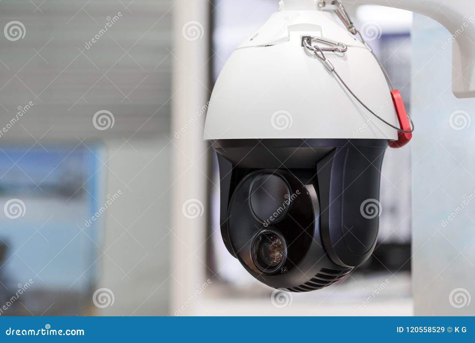 Moderne motorisierte Überwachungskamera Doppeltes bewegliches Weitwinkellense Selbst, der künstliche Intelligenz lernt Spurhaltun