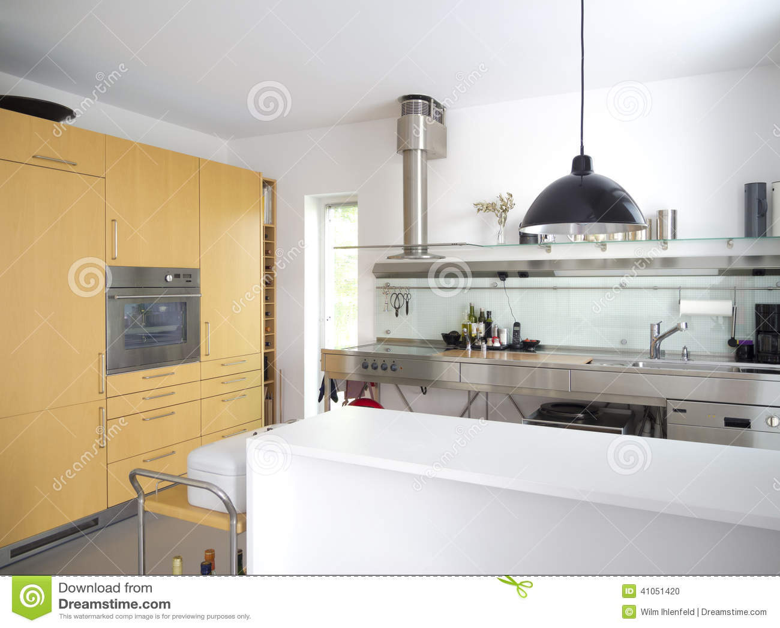 Keuken Modern Open : Moderne open keuken stock foto afbeelding bestaande uit decoratie