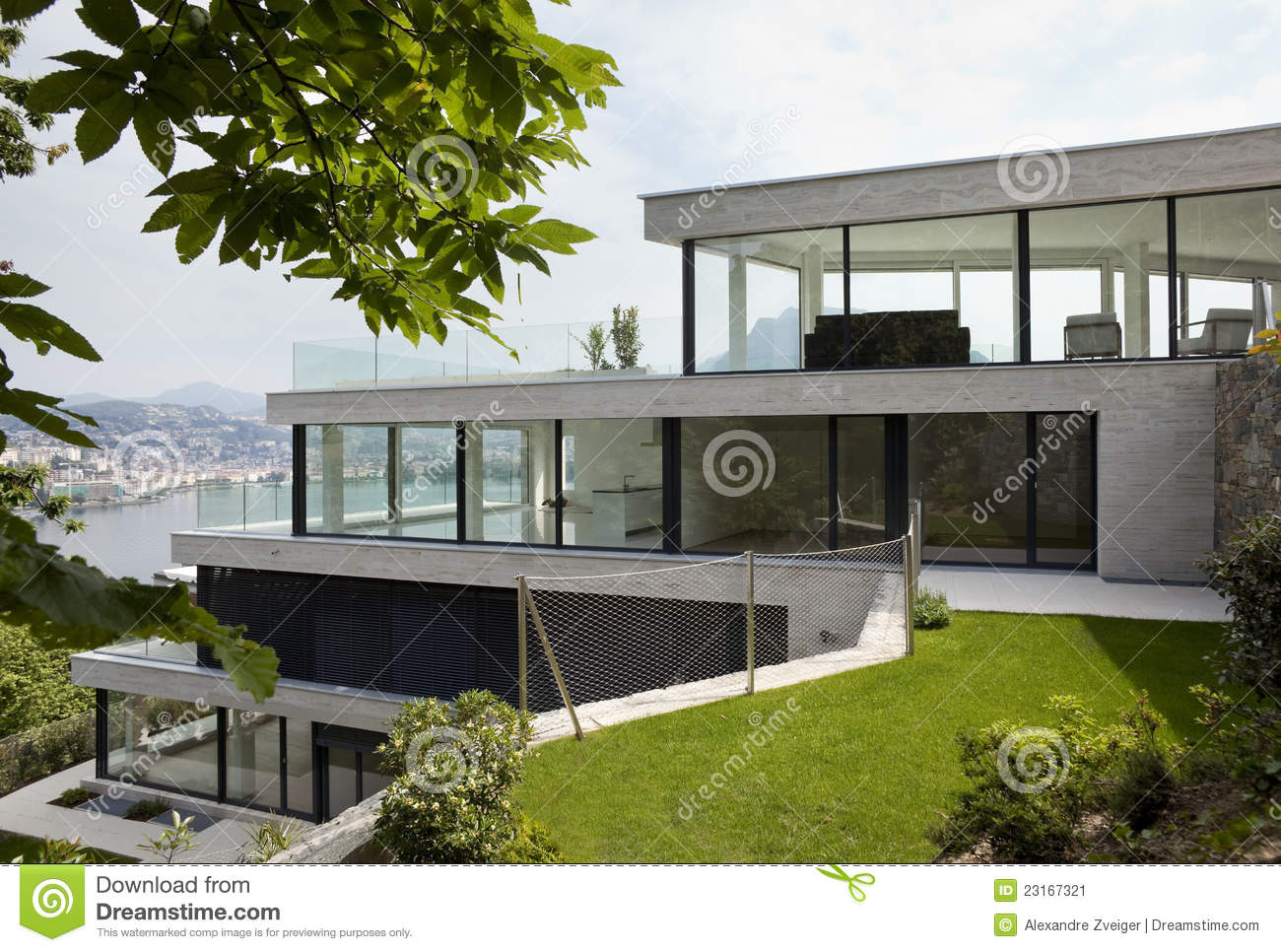 Moderne penthouse stock afbeelding afbeelding 23167321 for Garage con breezeway a casa