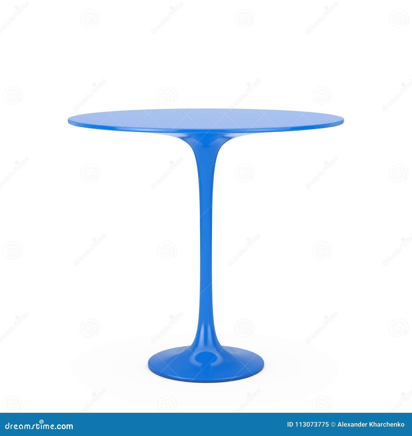 Moderne Plastic Blauwe Rondetafel het 3d teruggeven