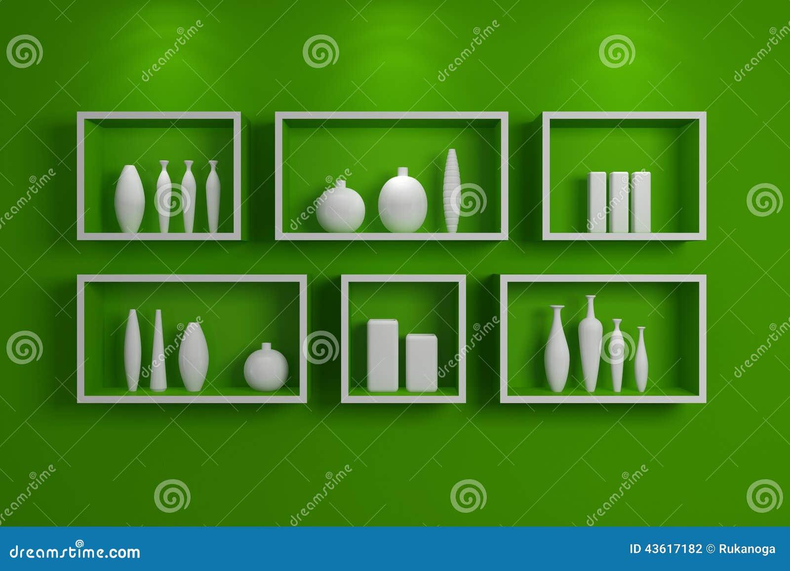 moderne regale stock abbildung bild 43617182. Black Bedroom Furniture Sets. Home Design Ideas
