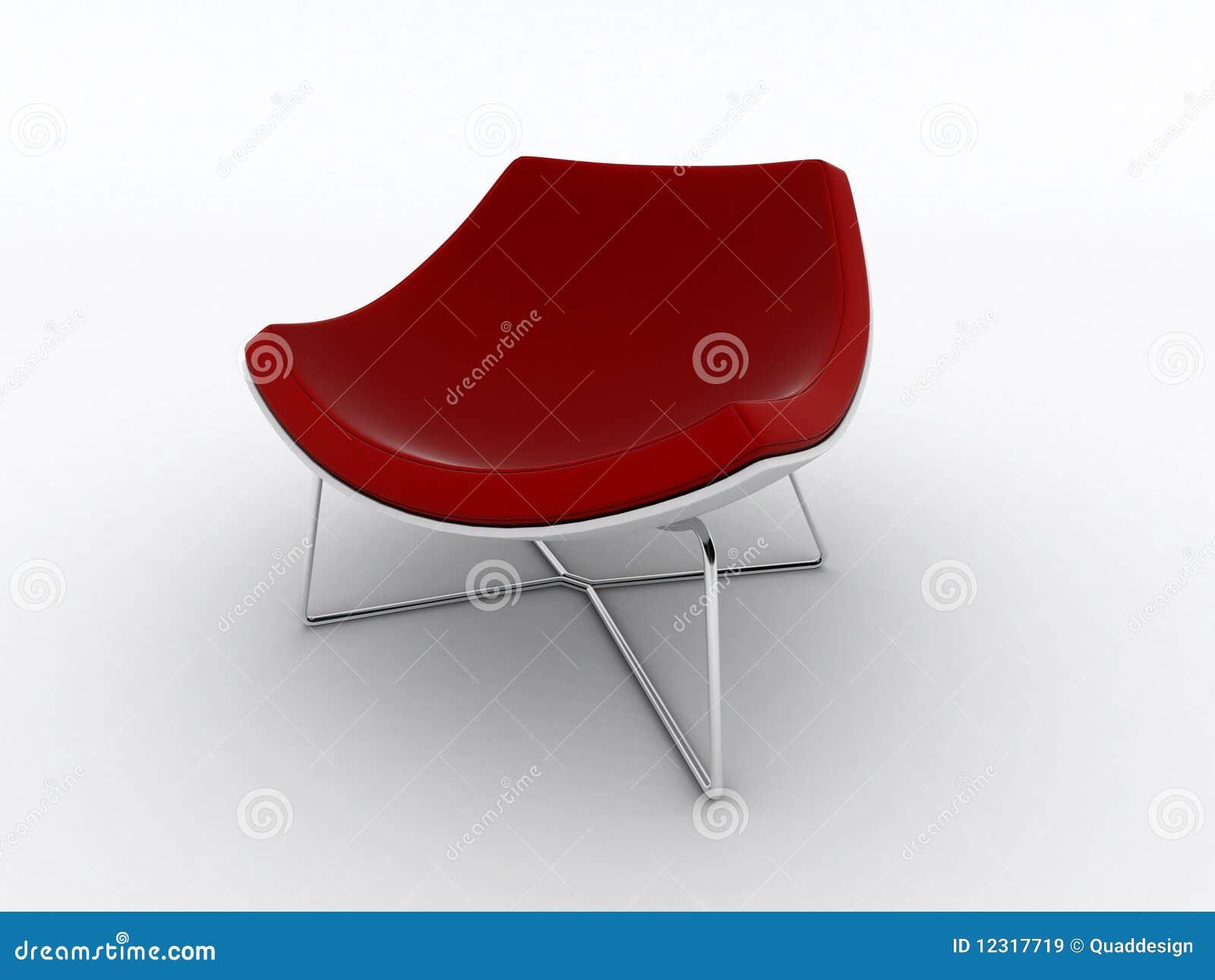 Moderne rode stoel royalty vrije stock afbeeldingen afbeelding 12317719 - Moderne stoel ...