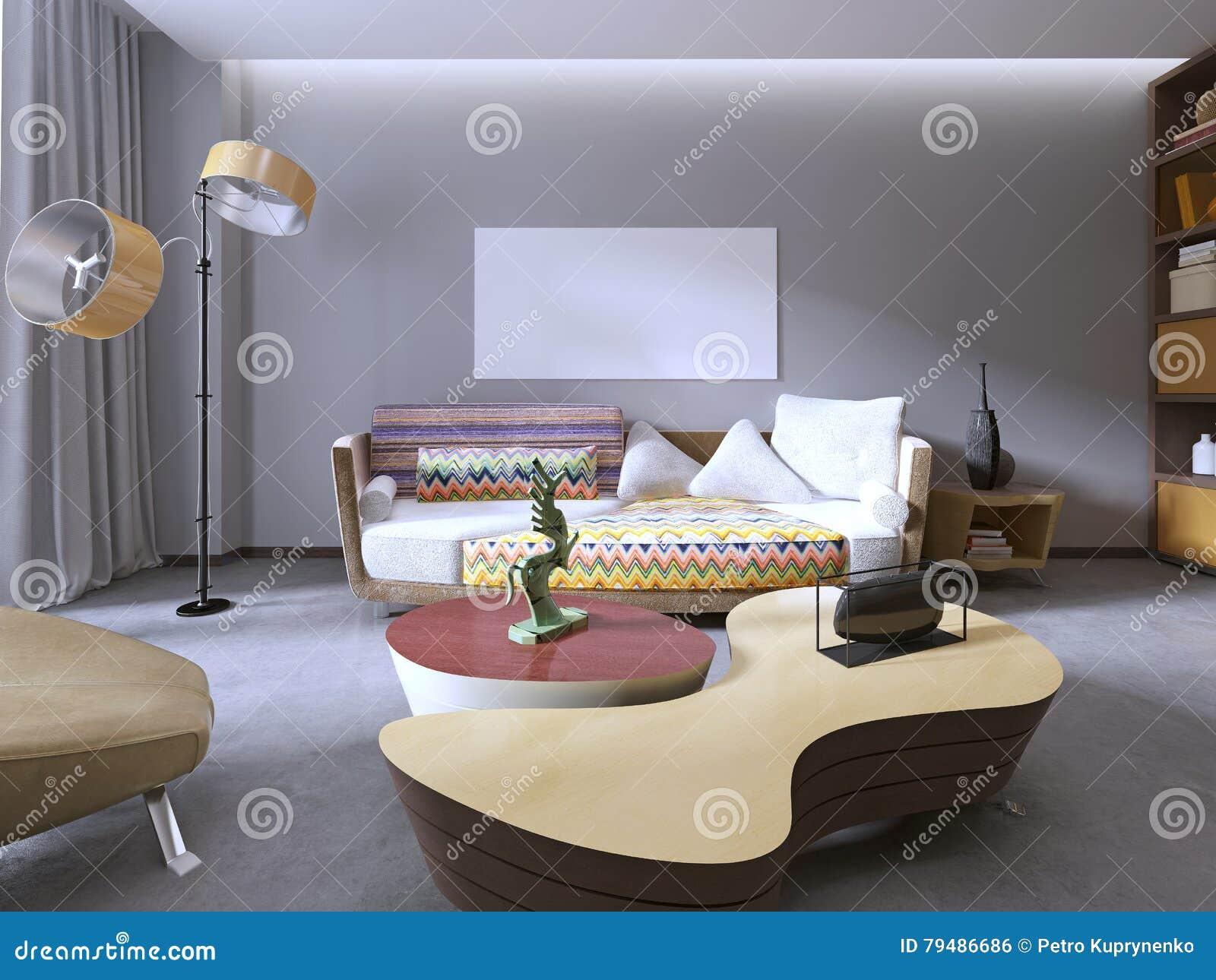 Moderne Schöne Bunte Sofadesigne Stock Abbildung