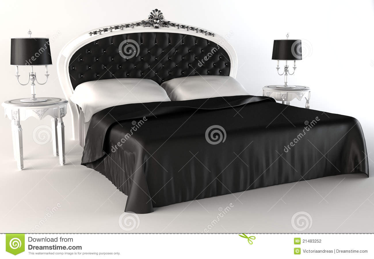 moderne schlafzimmersuite bett lampe tabelle stock abbildung bild 21483252. Black Bedroom Furniture Sets. Home Design Ideas