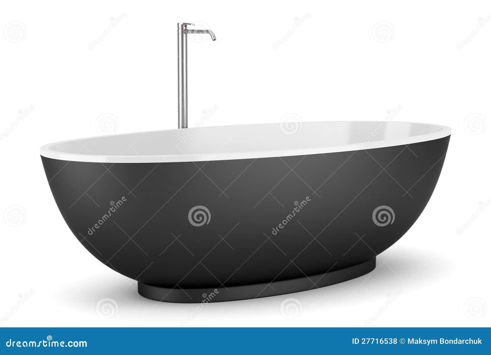 moderne schwarze badewanne getrennt auf wei lizenzfreie stockfotos bild 27716538. Black Bedroom Furniture Sets. Home Design Ideas