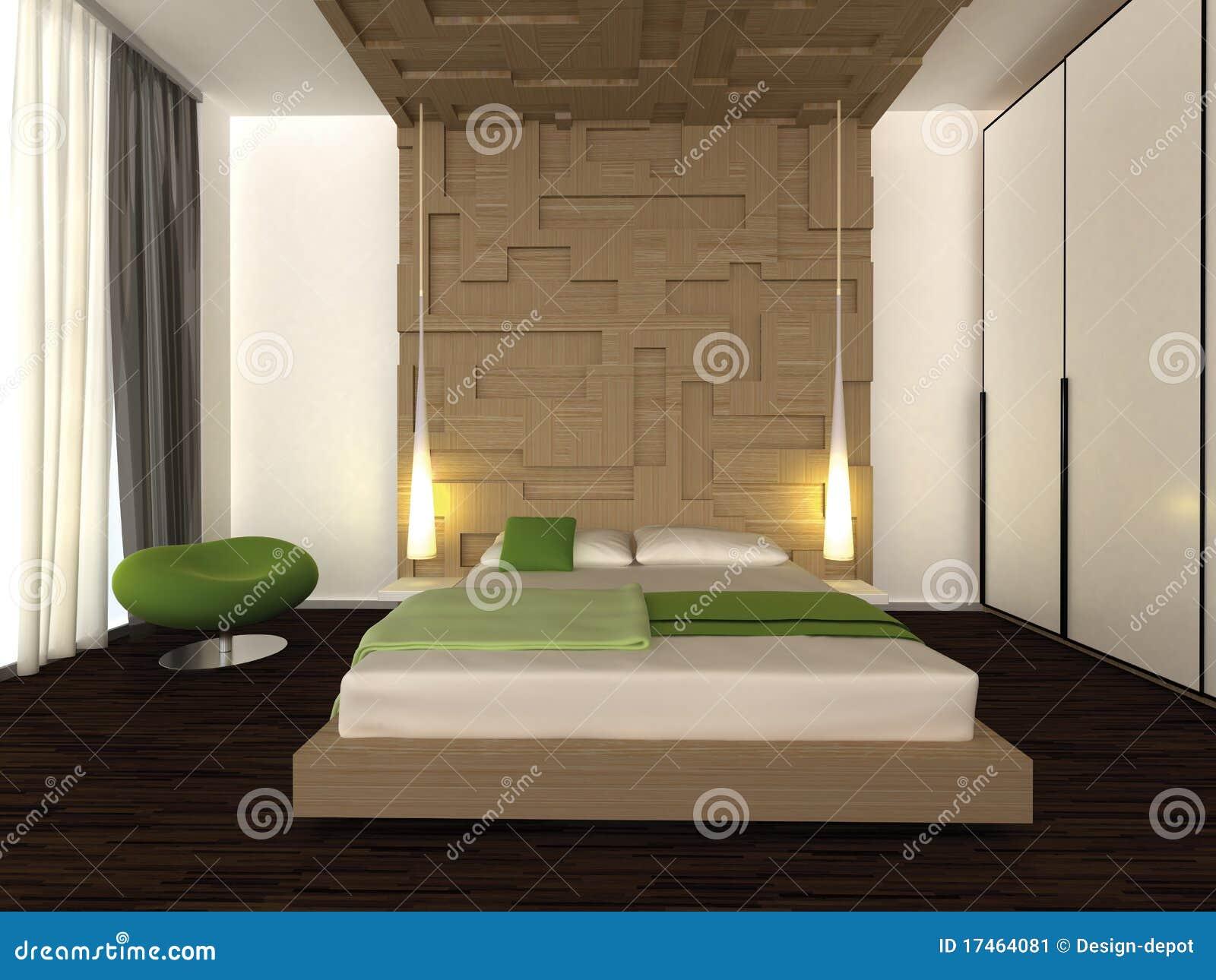 Moderne slaapkamer stock afbeelding afbeelding 17464081 - Moderne design slaapkamer ...