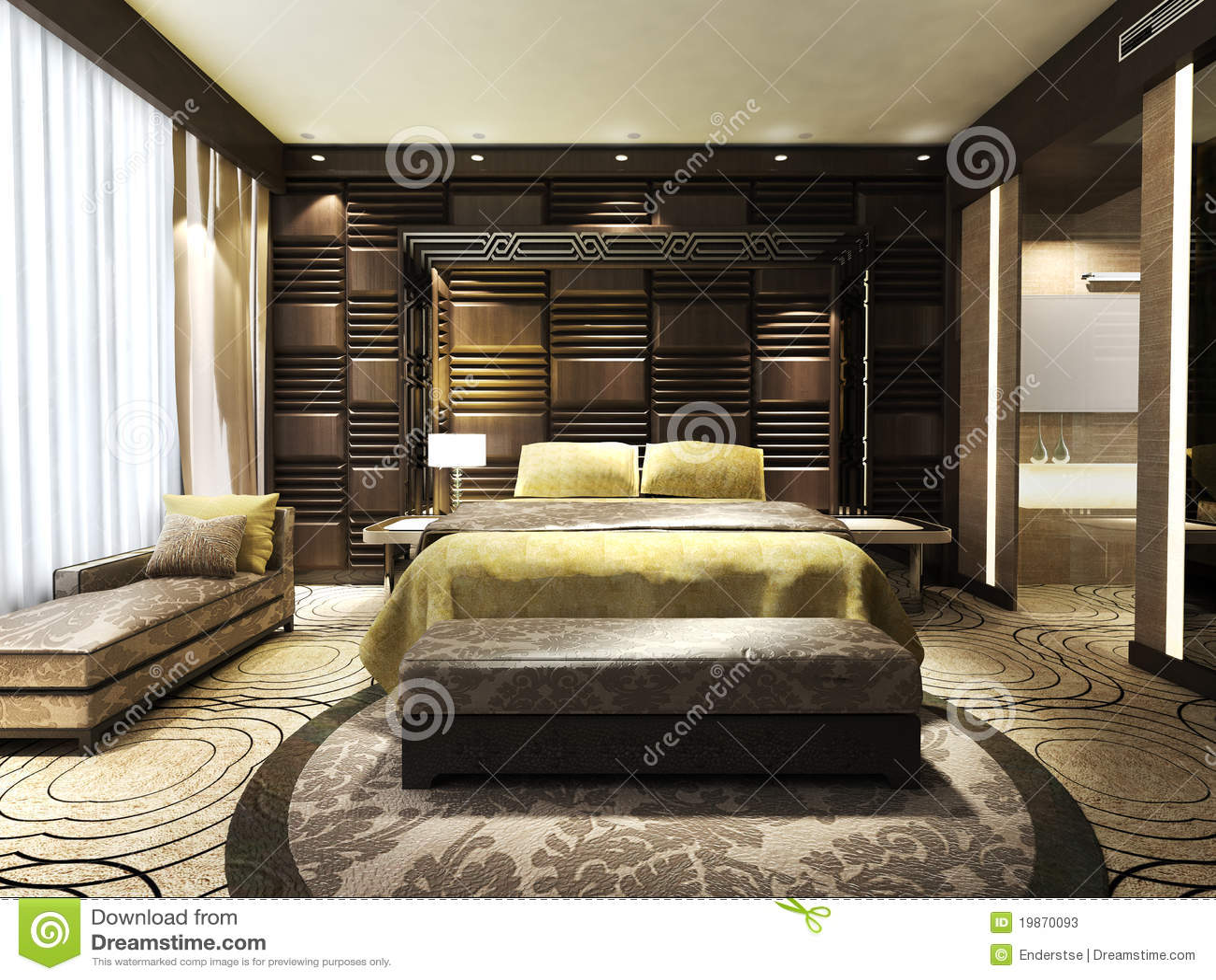 Slaapkamer Dekor Idees : Moderne slaapkamer stock afbeelding afbeelding bestaande uit flat