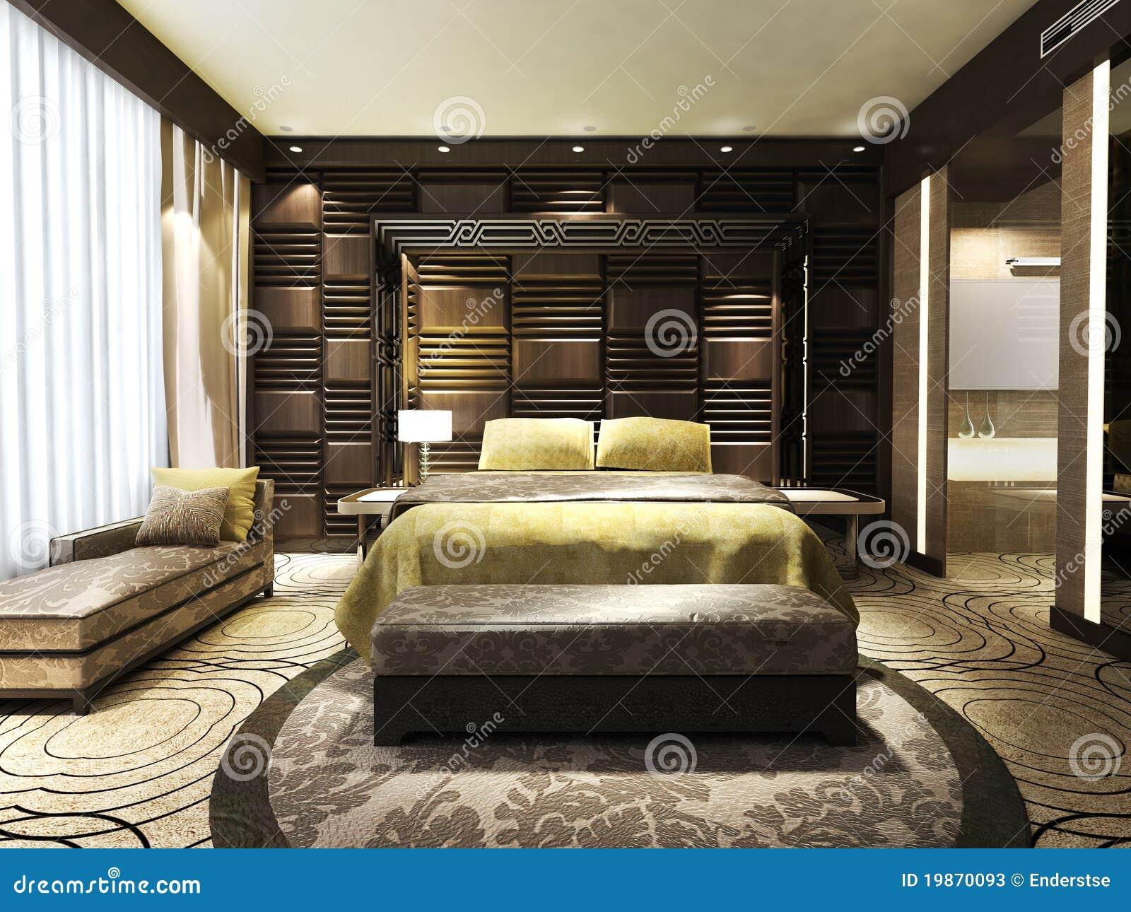 Slaapkamer Dekor Idees : moderne slaapkamer : Moderne Slaapkamer Stock ...