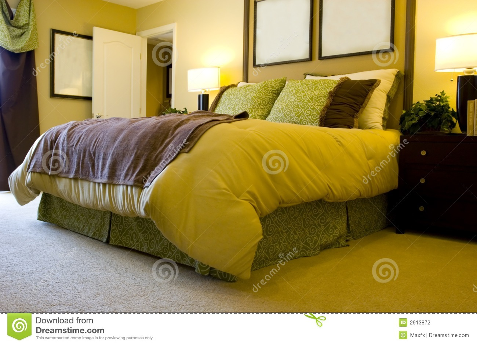 Moderne slaapkamer stock foto afbeelding bestaande uit ochtend 2913872 - Decoratie hoofdslaapkamer ...