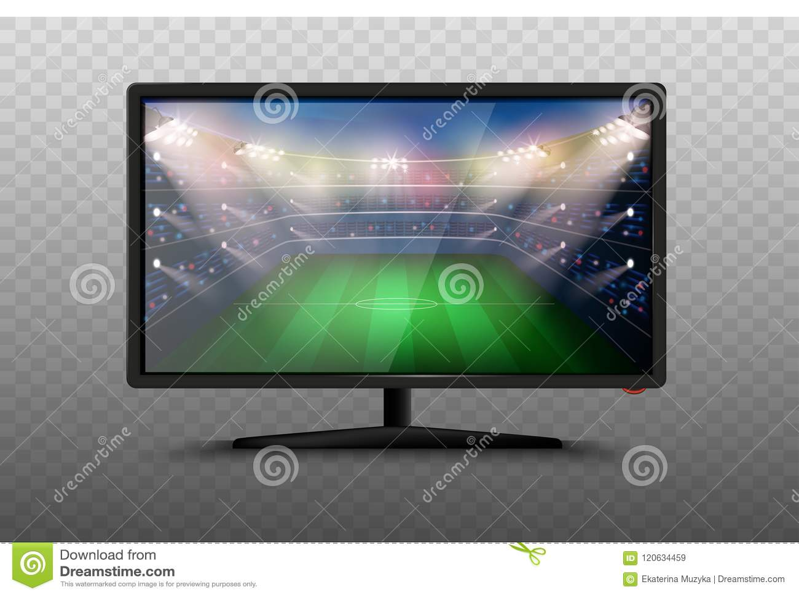 Moderne slimme Televisie 3d vectorillustratie Geïsoleerde realistische pictogrammen op transparante achtergrond LCD het Plasmasch