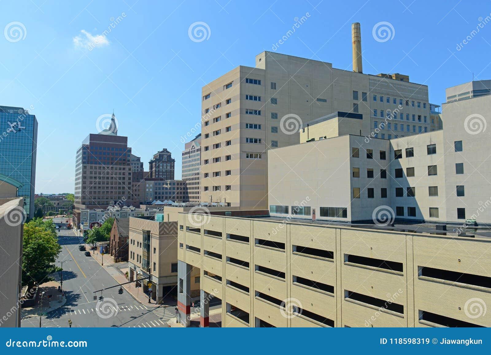 Moderne Stadtskyline Hartfords, Connecticut, USA