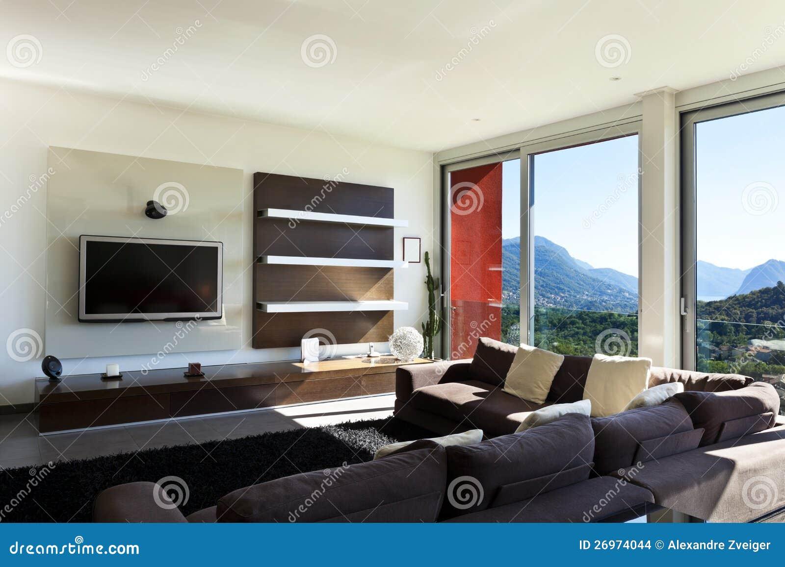 Moderne stijl woonkamer stock foto. afbeelding bestaande uit mooi