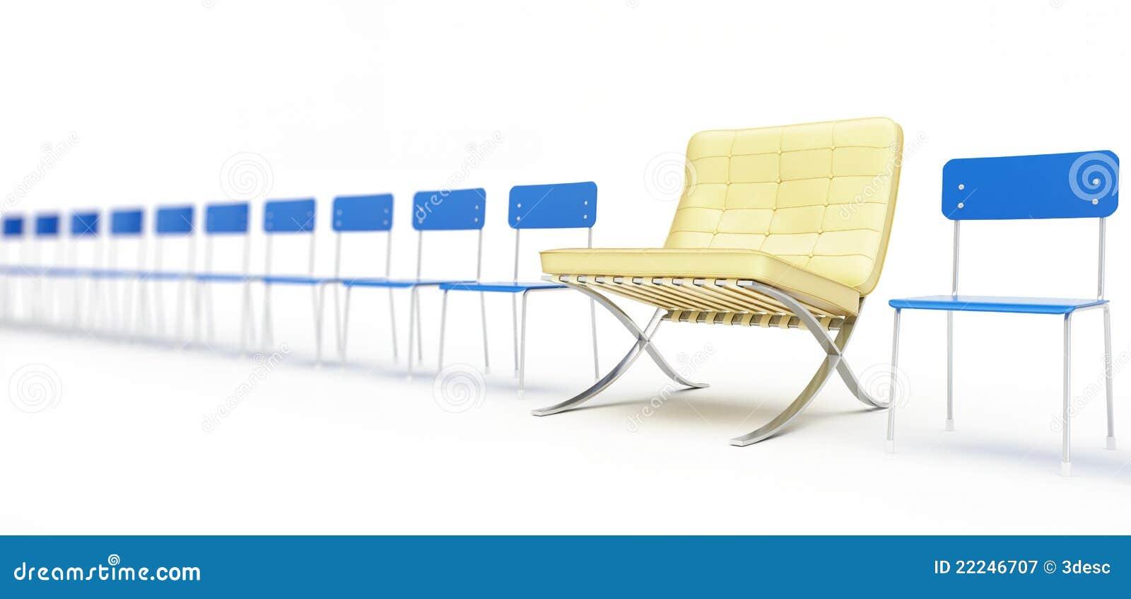 Moderne stoel en een aantal eenvoudige stoelen royalty vrije stock fotografie beeld 22246707 - Moderne stoel ...