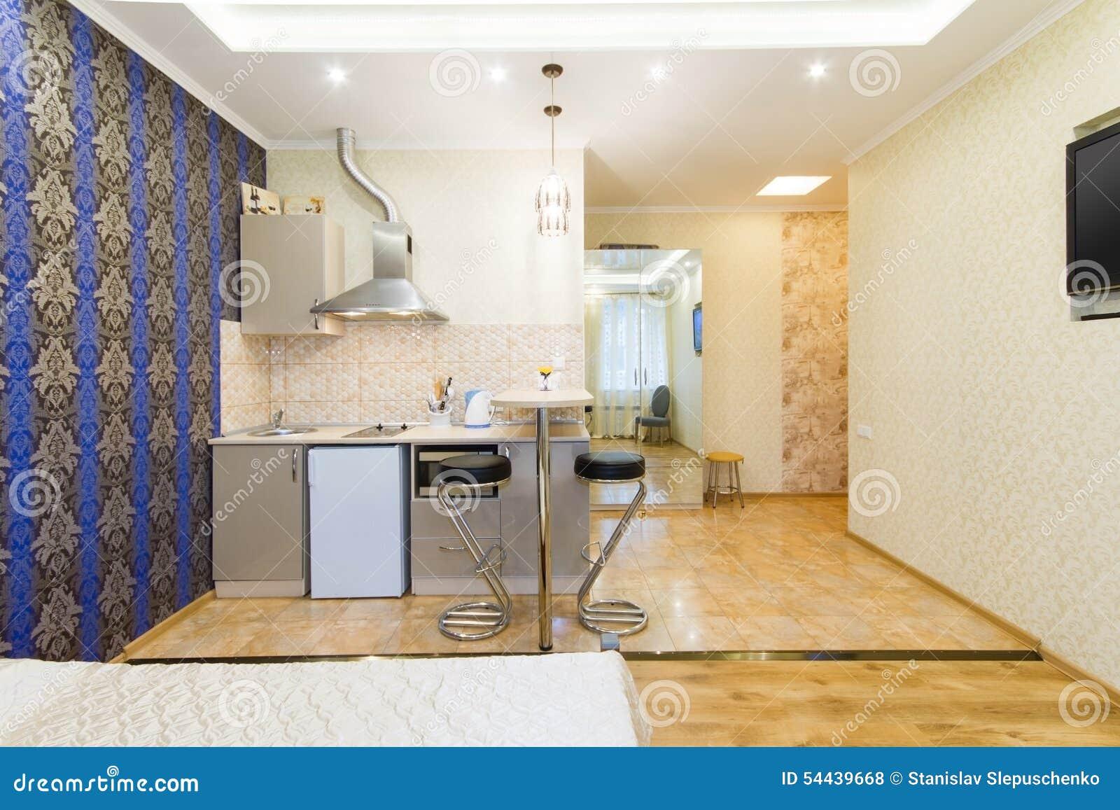 3d Fußboden Küche ~ Moderne studiowohnung küche und wohnzimmer stockfoto bild von