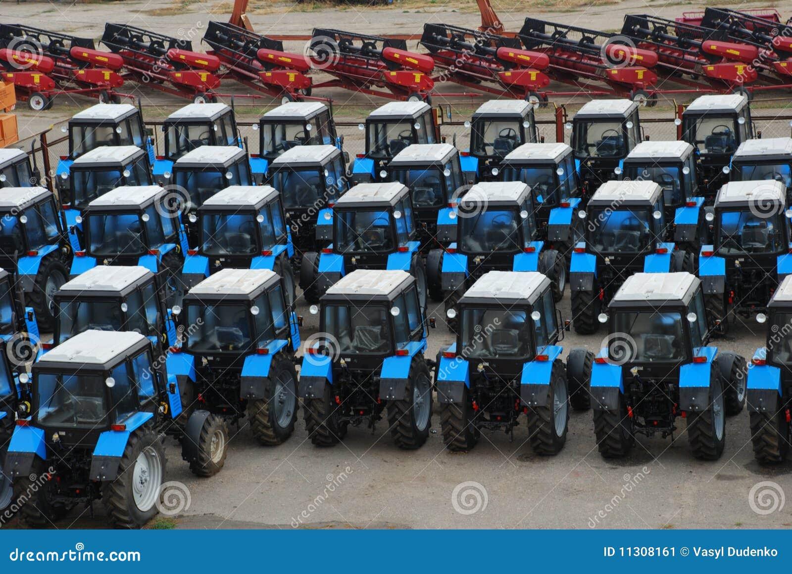 Moderne Traktoren