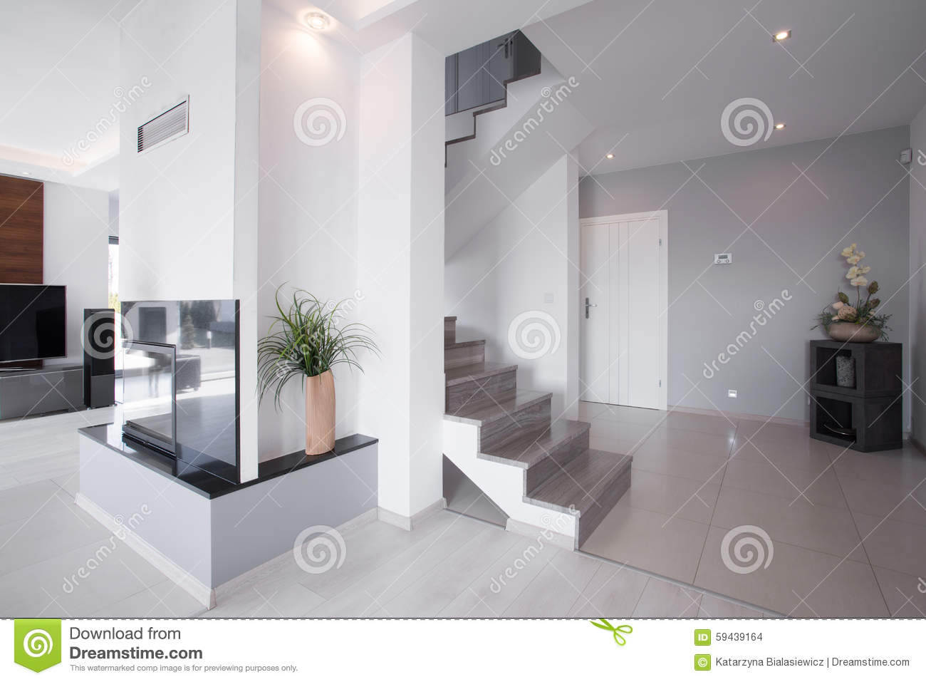 Moderne trap in modieus huis stock foto afbeelding 59439164 - Foto moderne trap ...