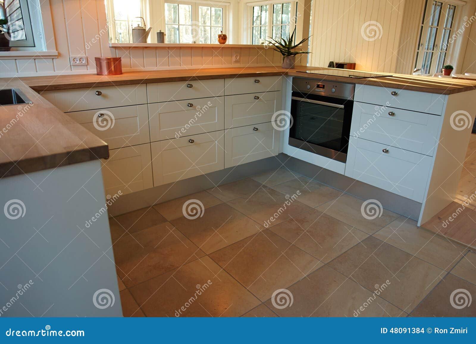 Moderne trendy ontwerp witte houten keuken stock foto   afbeelding ...