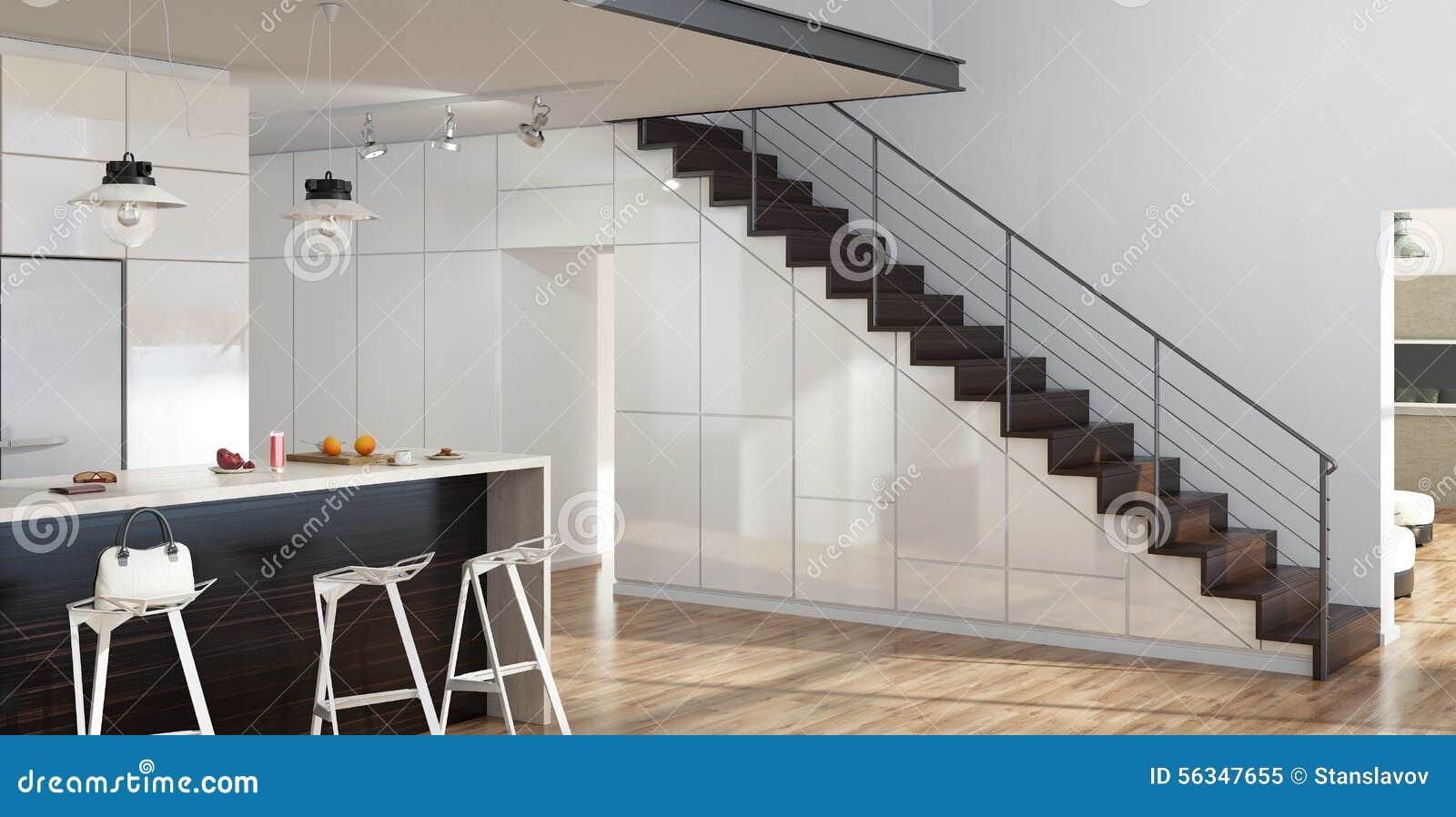 moderne treppen stock abbildung illustration von k hlraum. Black Bedroom Furniture Sets. Home Design Ideas
