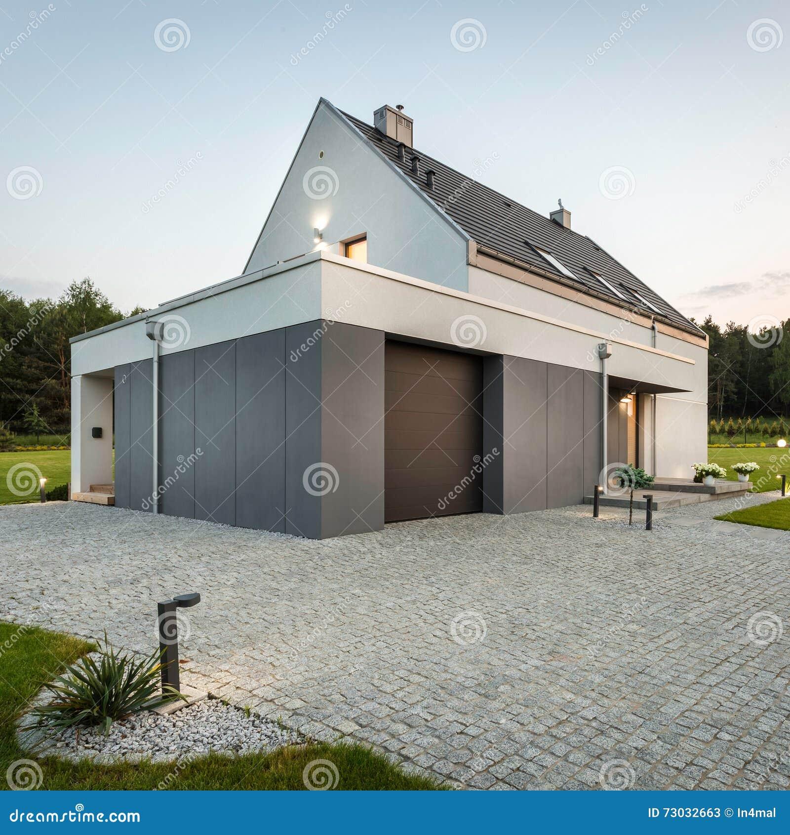 Moderne Und Einfache Architektur Stockbild Bild Von Luxus