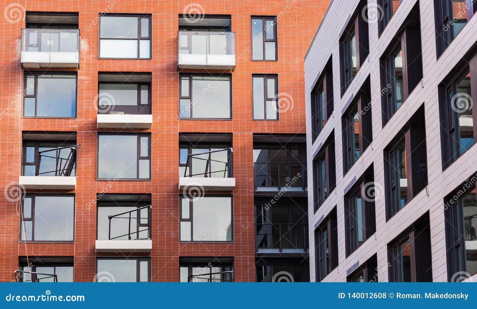 Moderne und neue Wohnanlage Mehrstöckiger, moderner, neuer und stilvoller lebender Wohnblock Grundbesitz? Häuser, Ebenen für Verk