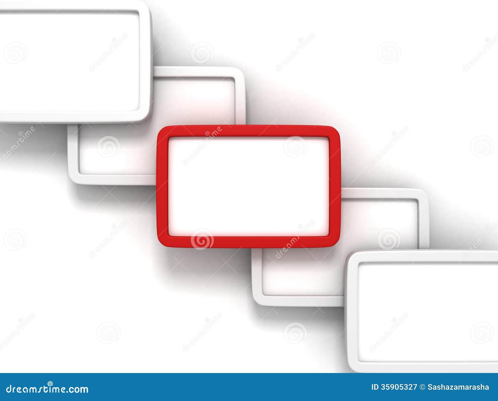 moderne van de ontwerp lege informatie rode banner als achtergrond voor tekst stock illustratie. Black Bedroom Furniture Sets. Home Design Ideas