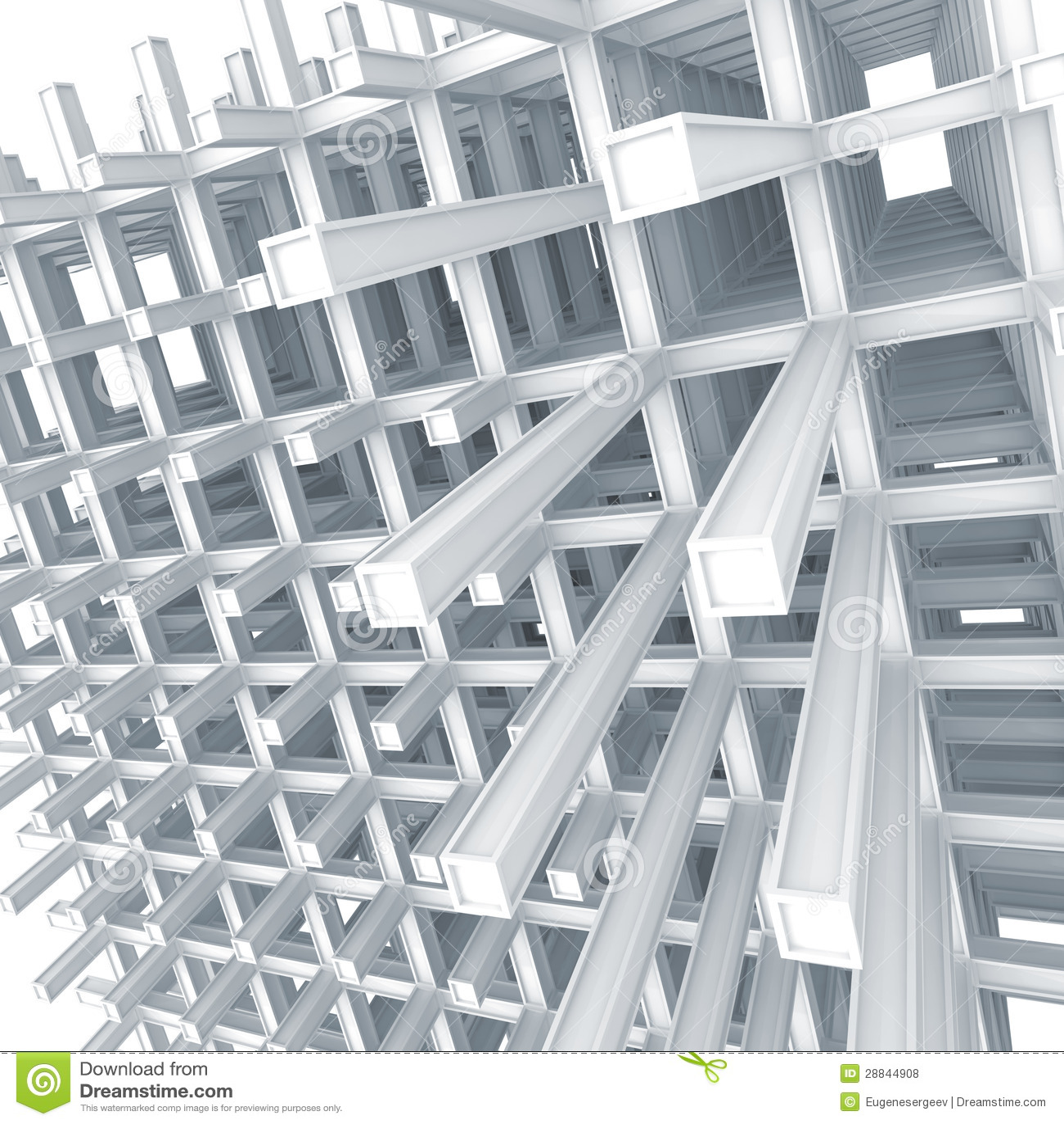 Moderne vastgebonden bouw op witte achtergrond stock for Moderne bouw
