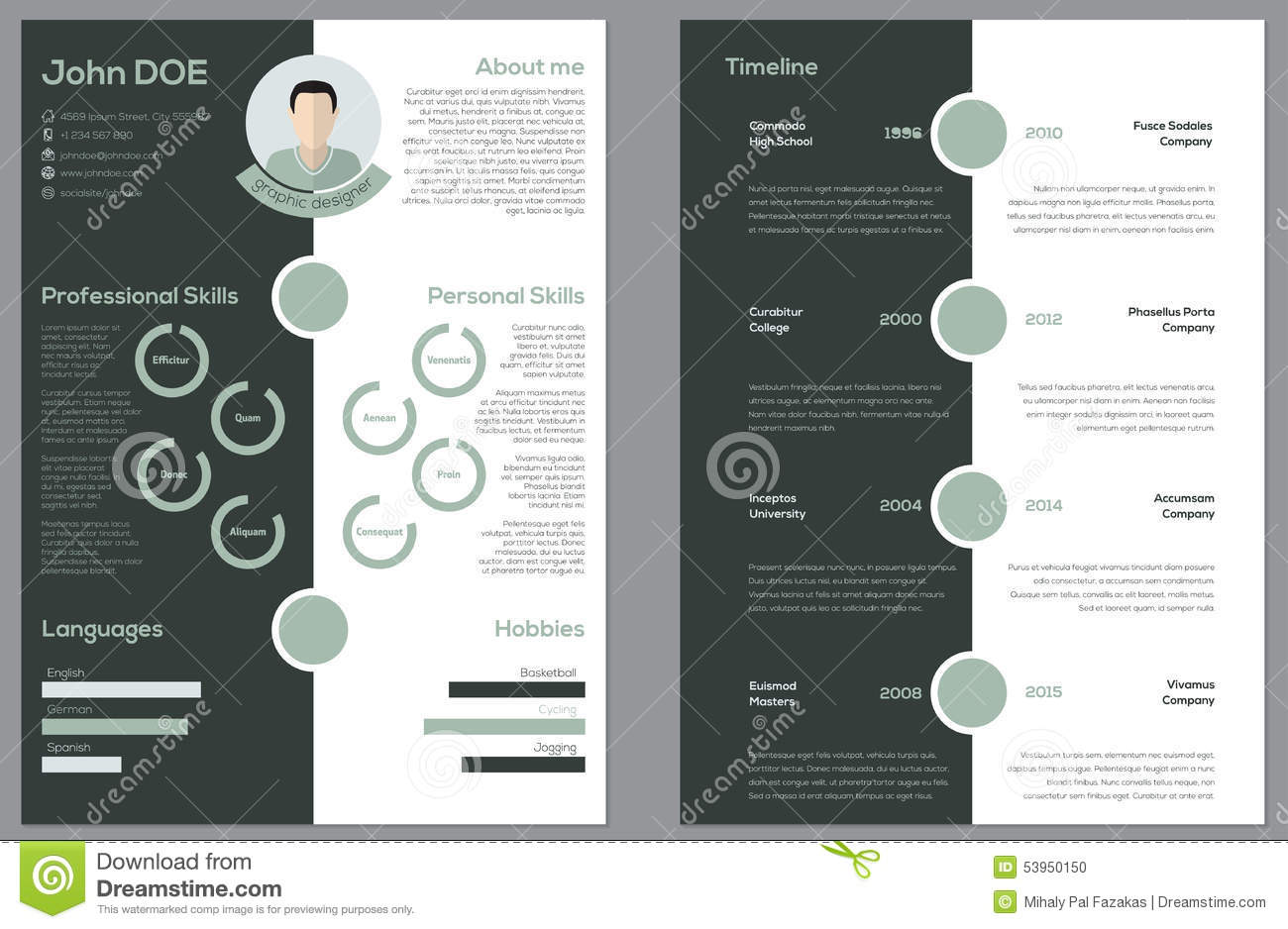 double sided resume