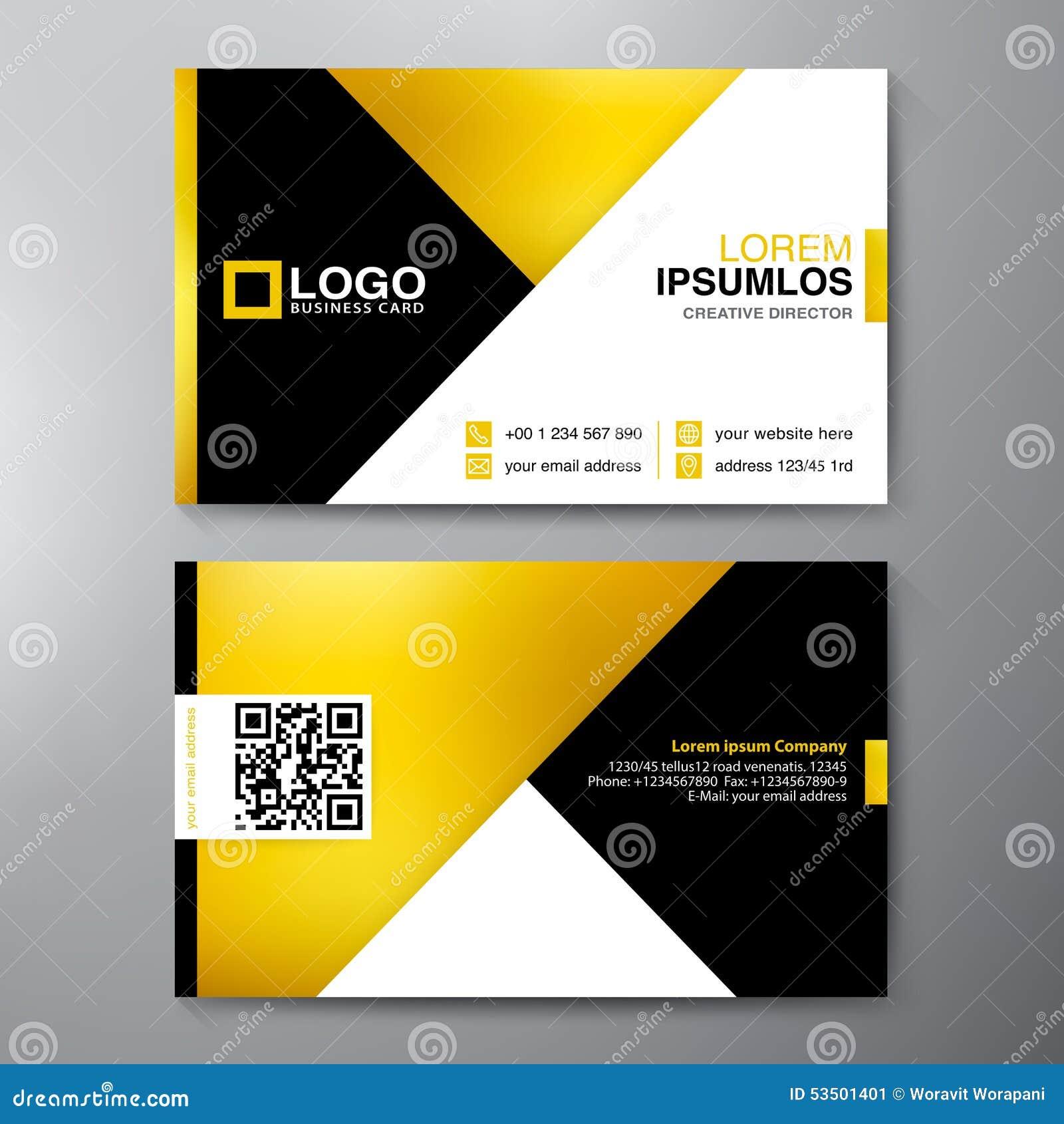 Moderne Visitenkarte-Design-Schablone Vektor Abbildung ...