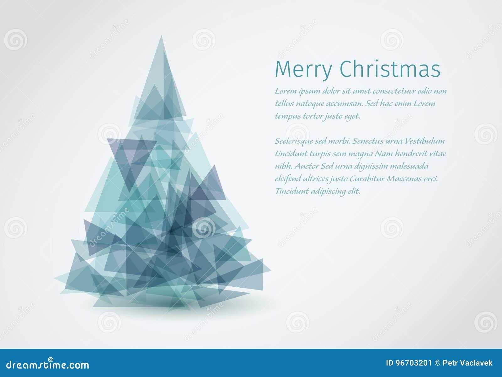 Moderne Weihnachtskarten.Moderne Weihnachtskarte Mit Weihnachtsbaum Vektor Abbildung