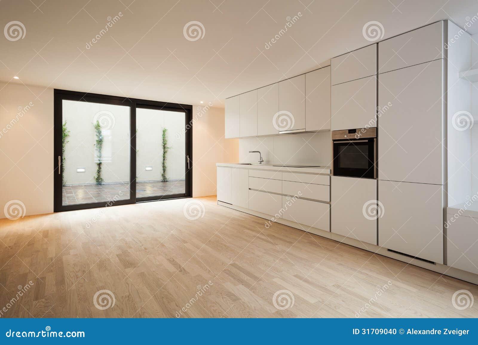 Moderne Witte Keuken Stock Foto - Afbeelding: 31709040