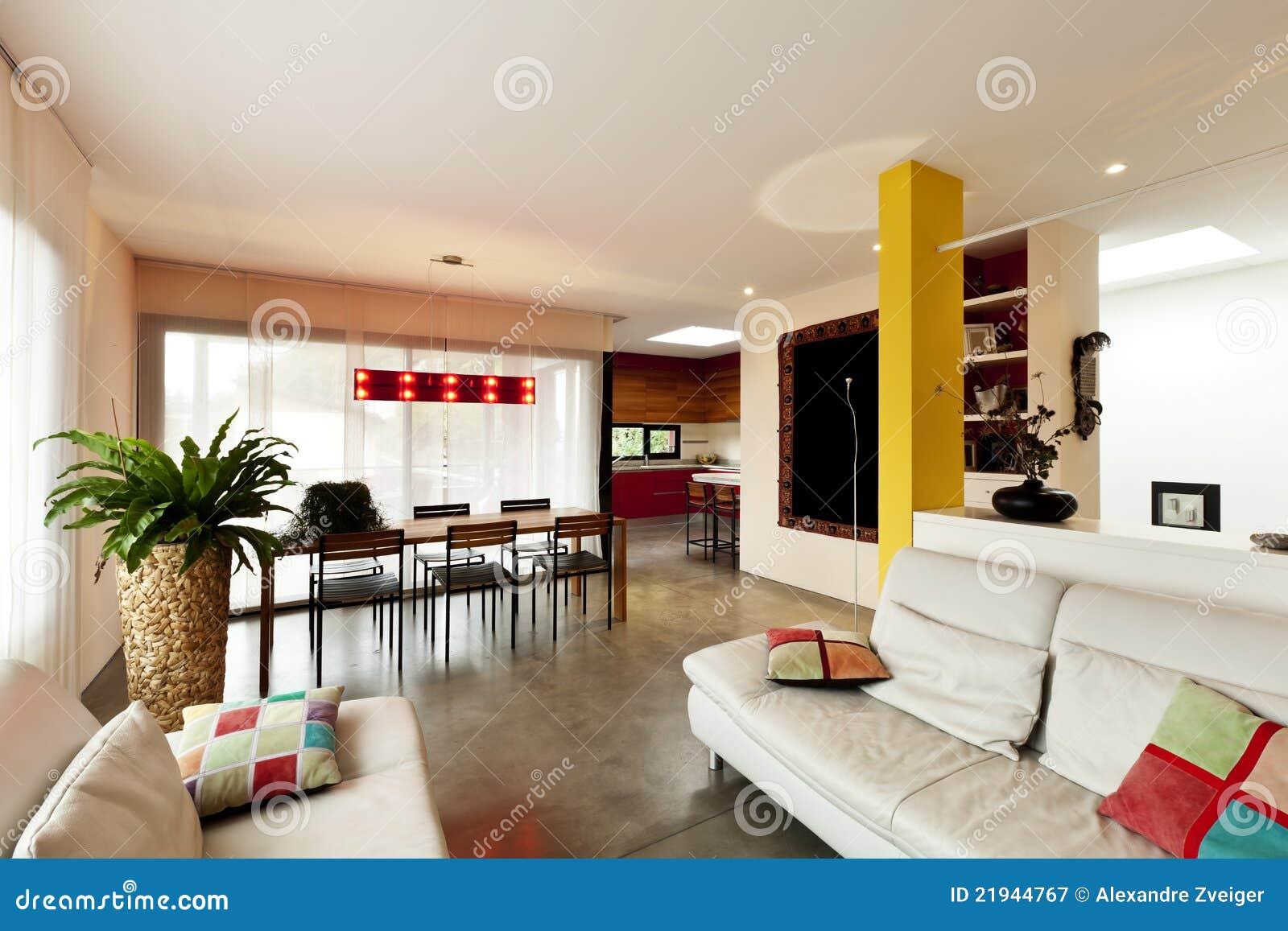 Schon Download Moderne Wohnung, Wohnzimmer Stockbild   Bild Von Stuhl, Behausung:  21944767