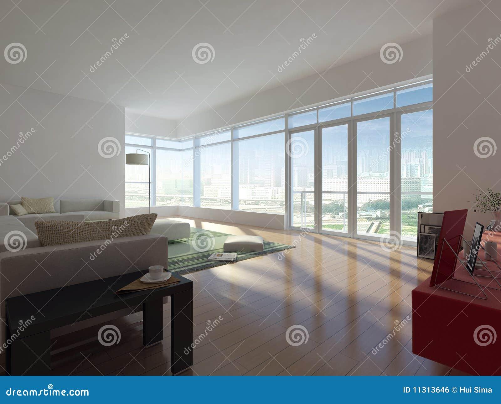 Moderne woonkamer stock illustratie afbeelding bestaande uit living 11313646 for Moderne woonkamer