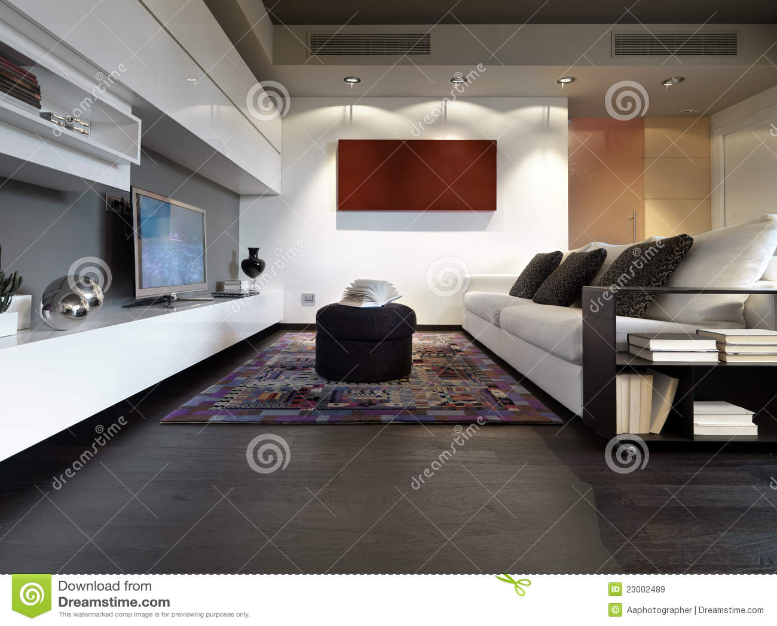 Moderne woonkamer royalty vrije stock afbeeldingen beeld 23002489 for Moderne woonkamer