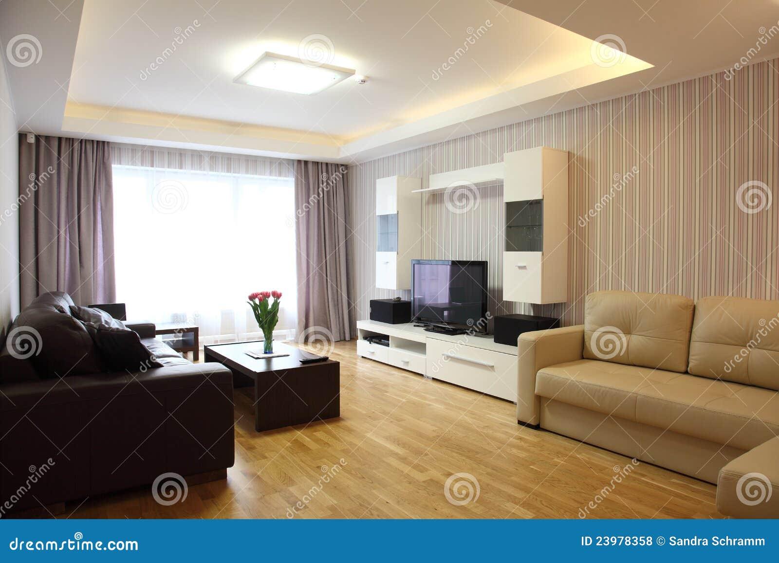 Moderne woonkamer stock foto afbeelding bestaande uit binnenlands 23978358 for Moderne woonkamer