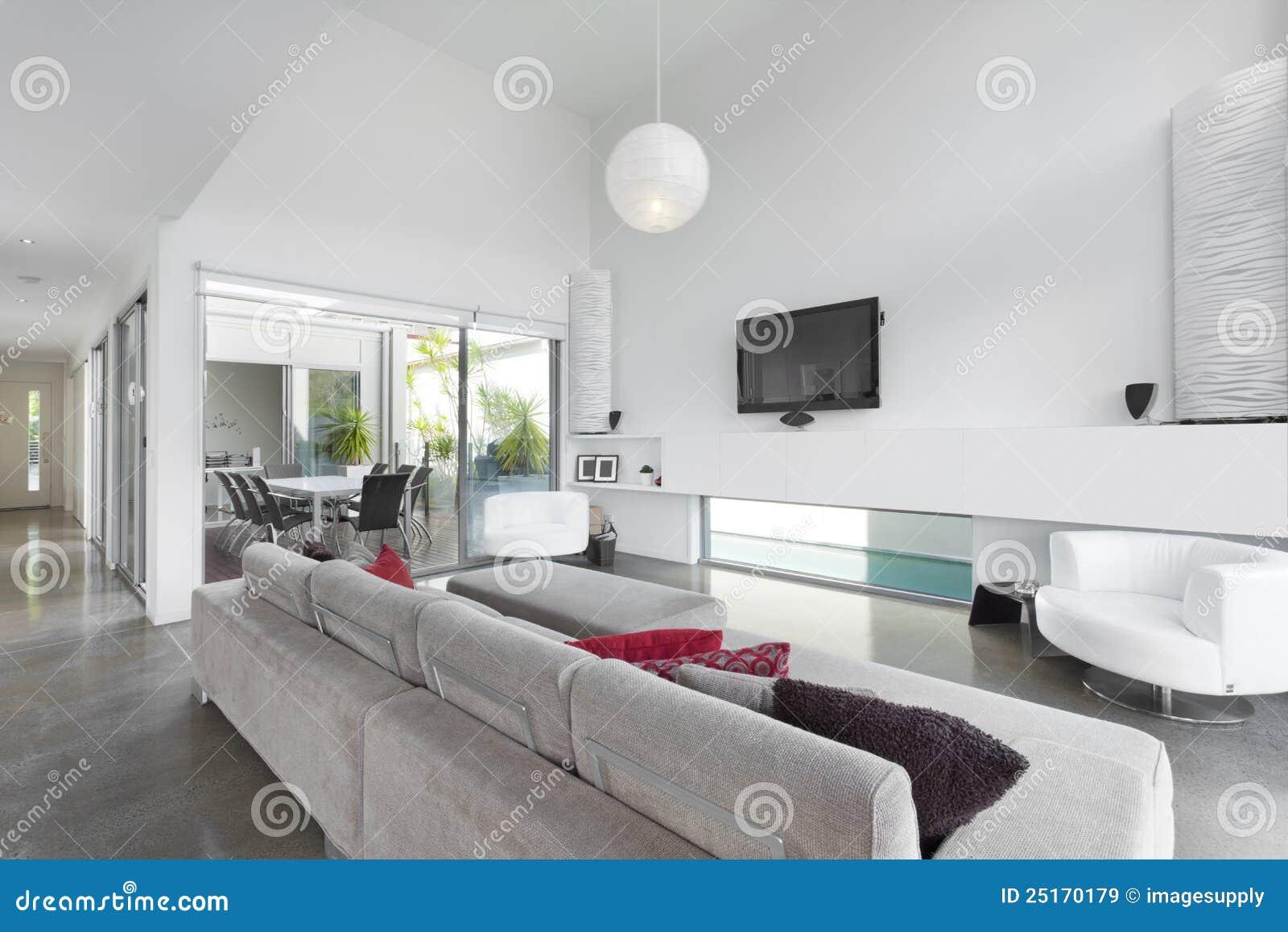 Moderne woonkamer royalty vrije stock afbeeldingen afbeelding 25170179 for Deco woonkamer moderne woonkamer