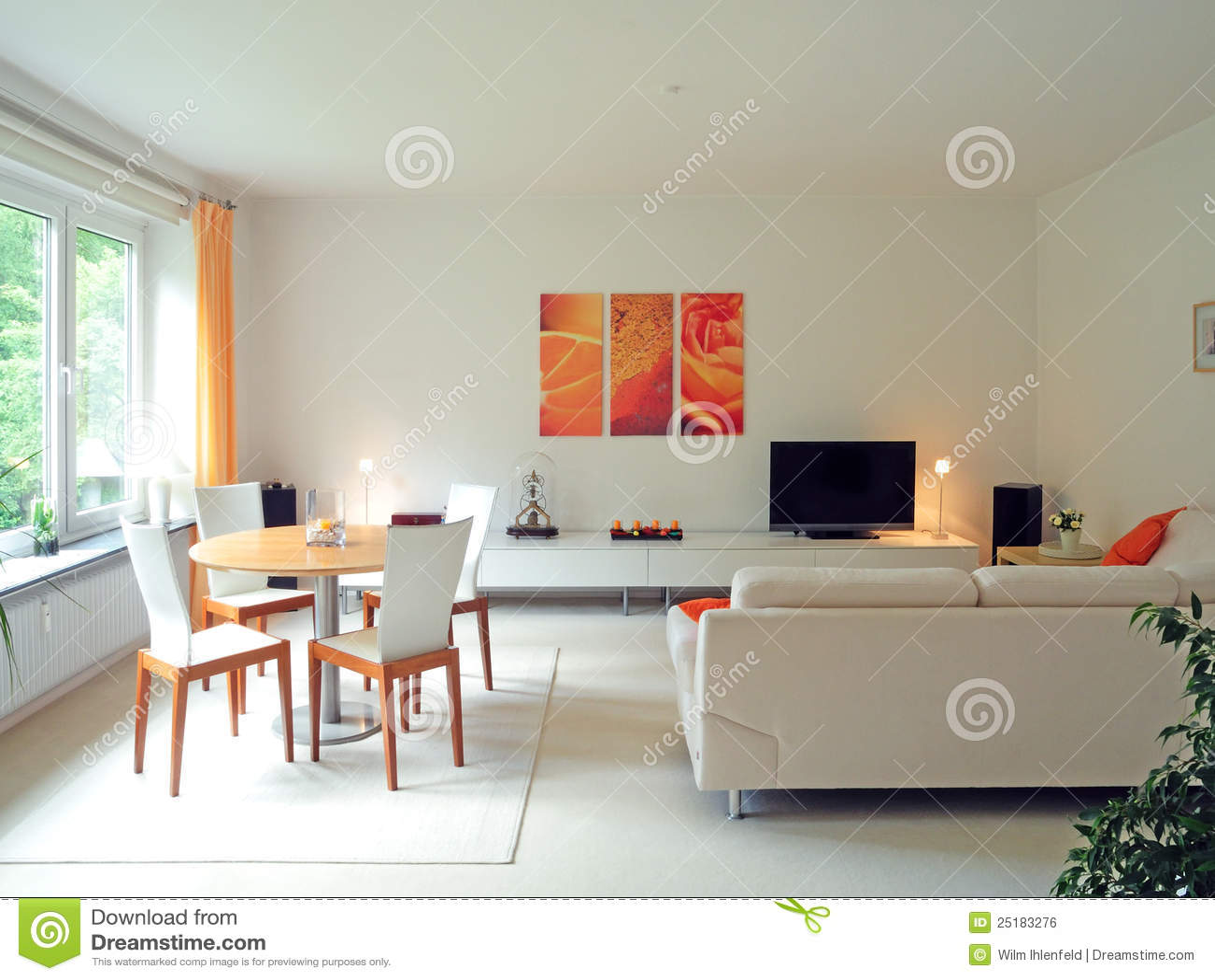Moderne woonkamer royalty vrije stock afbeelding - Deco moderne woonkamer ...