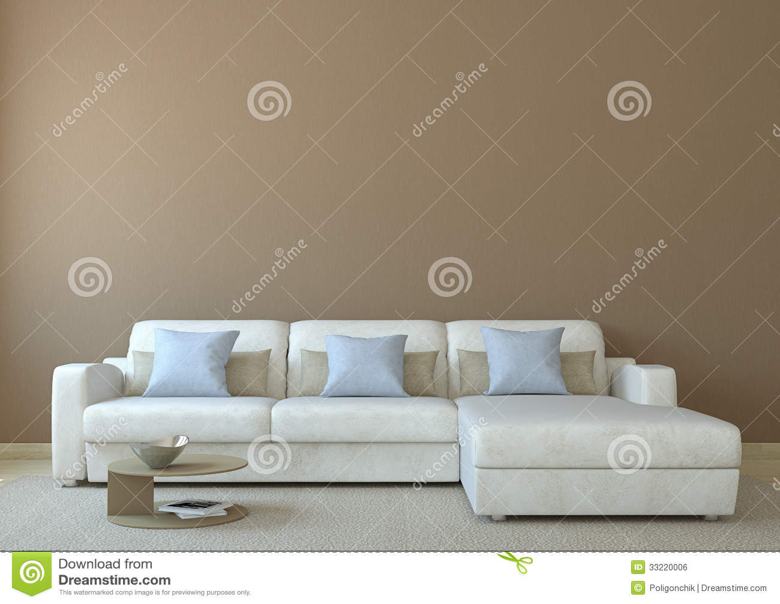 Moderne woonkamer royalty vrije stock afbeelding   afbeelding ...