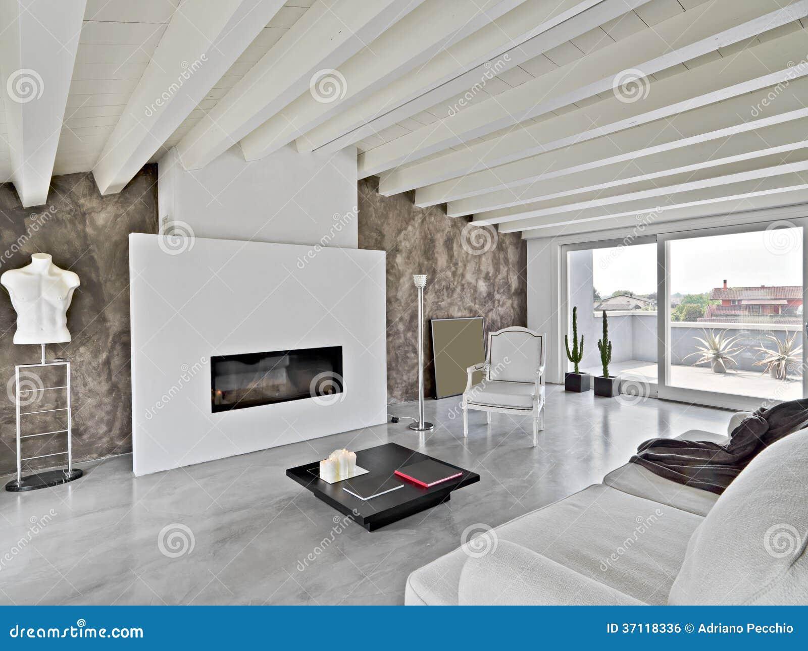 Moderne woonkamer in de zolder royalty vrije stock afbeelding afbeelding 37118336 - Mezzanine woonkamer ...