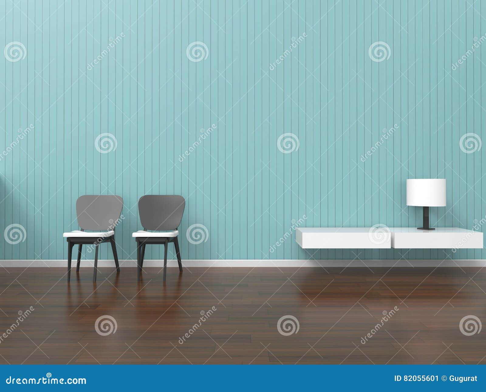 Koraalkleur De Woonkamer : Moderne woonkamer eenvoudige zolder van van de huisbureau en