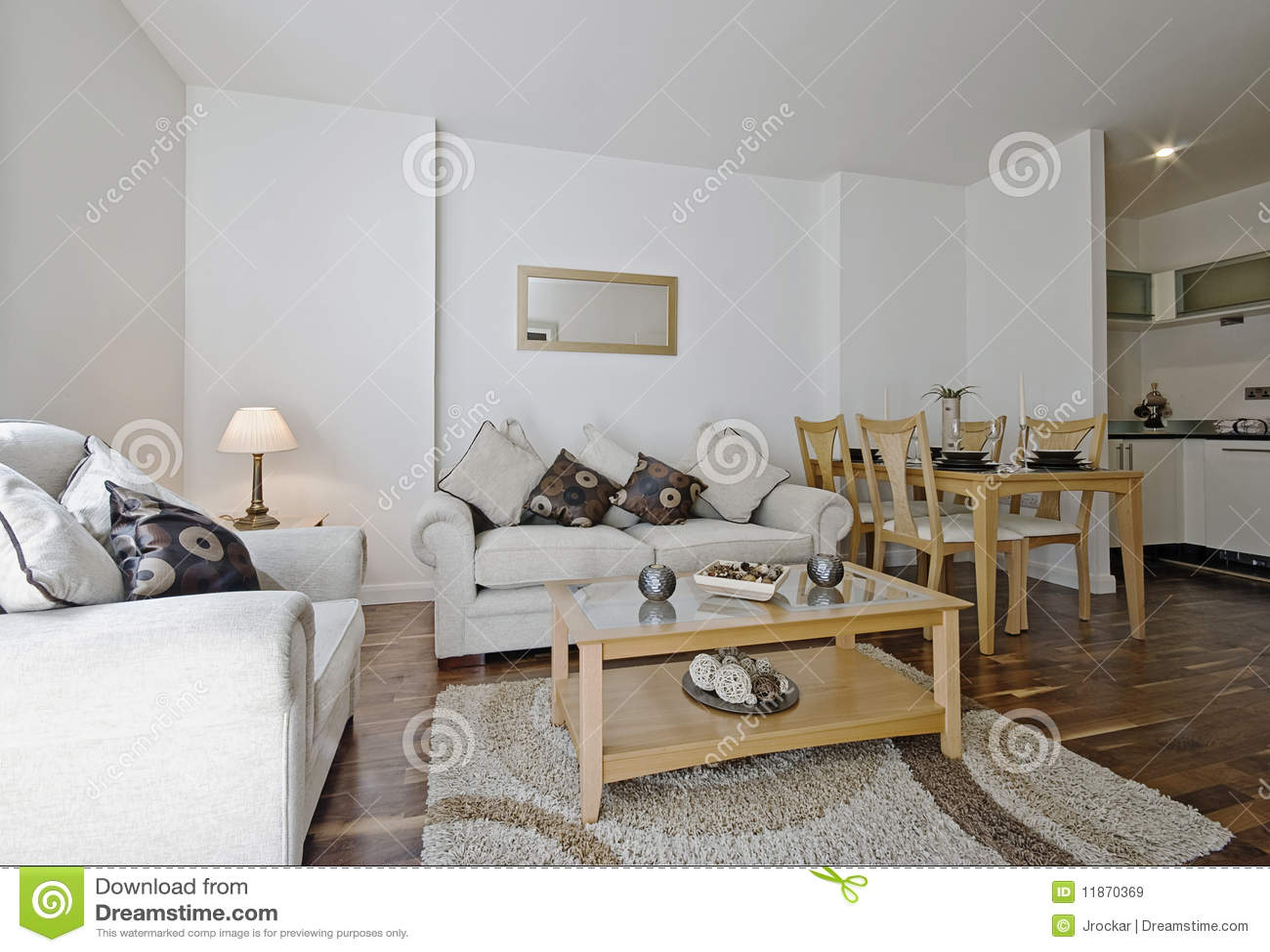 Moderne woonkamer met decoratie stock afbeelding afbeelding